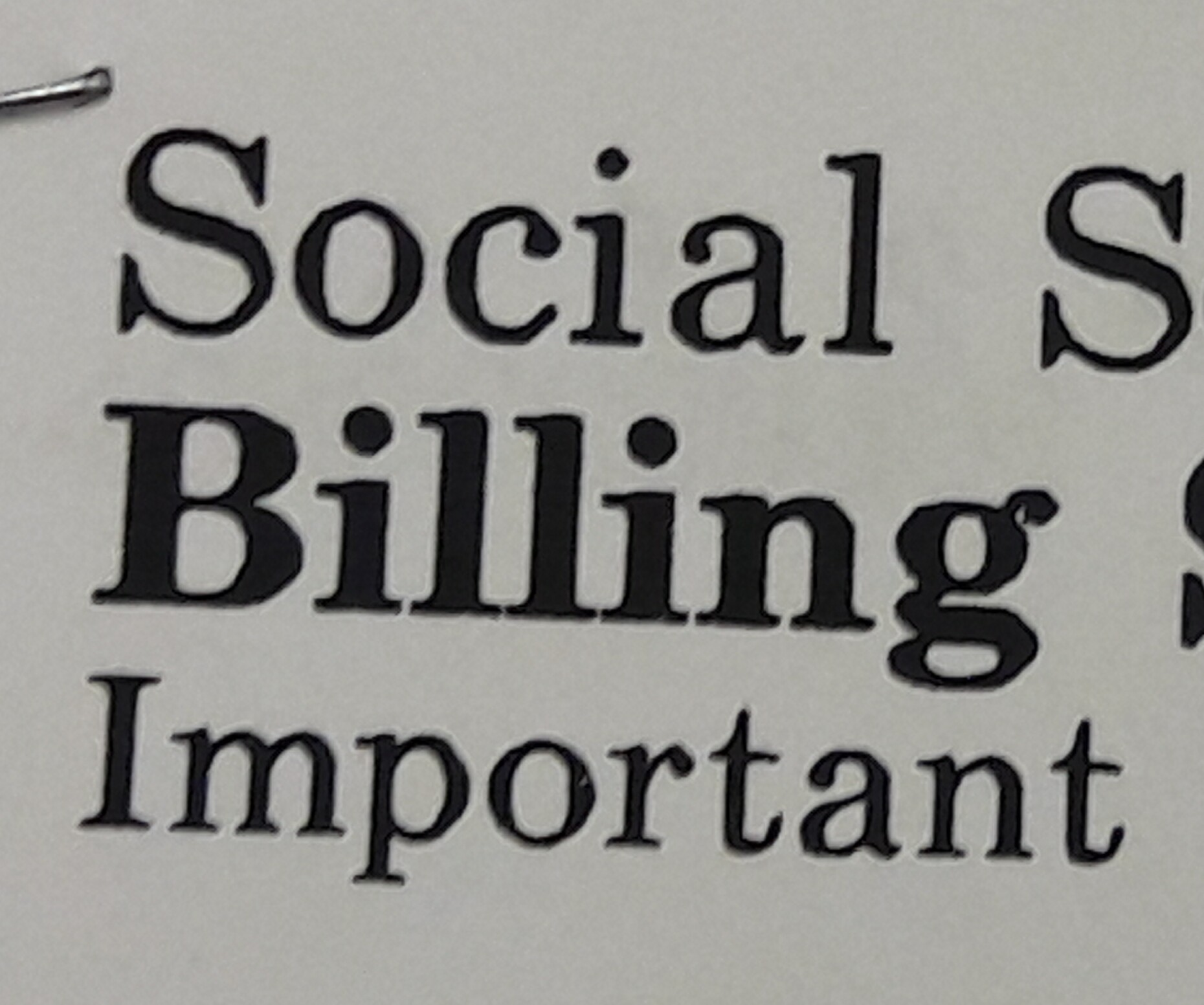 Social Security Overpayment Bill